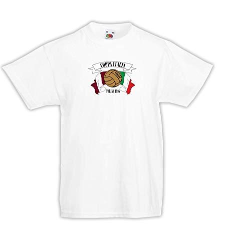 Settantallora - Camiseta Infantil J3547 Coppa Italia Torino Vintage Football Bianco 116