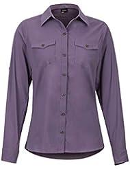 Marmot Wm's Annika Long Sleeve - T-Shirt Manche Longue, Chemise de randonnée, avec Protection UV, Respirante - Femme