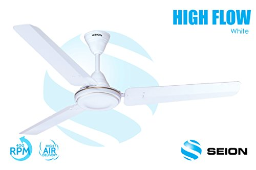 Seion Ceiling Fan HighFlow White 1200 mm