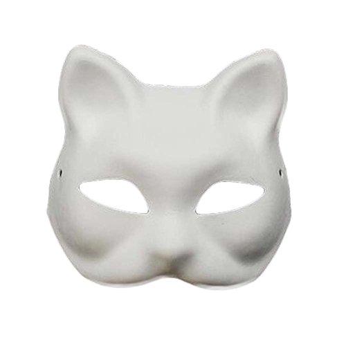 Diy Maske Kostüm (Set von 10 weißen Maske Kostüm Maske Malerei DIY Papier Maske leere Maske Fox)