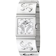 Calypso 5203/1 - Reloj de mujer de cuarzo, correa de acero inoxidable color blanco