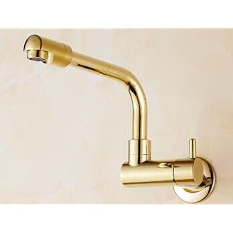 ODJG Oro con mucho toque único giratorio montado en la pared fría lavadero balcón mopas mopas piscina descubierta , toca la de color cobre