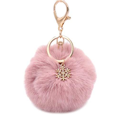 Jingyuu Schlüsselanhänger für Damen, Bommel, Dekoration, Anhänger für Auto/Telefon/Rucksack/Handtasche/Auto/Schlüsselanhänger (Wapiti) 8 cm Dark Pink