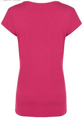 N01 Nouveau Femme Designer Grande Taille T-Shirt Manche Courte Haut Femme Cerise