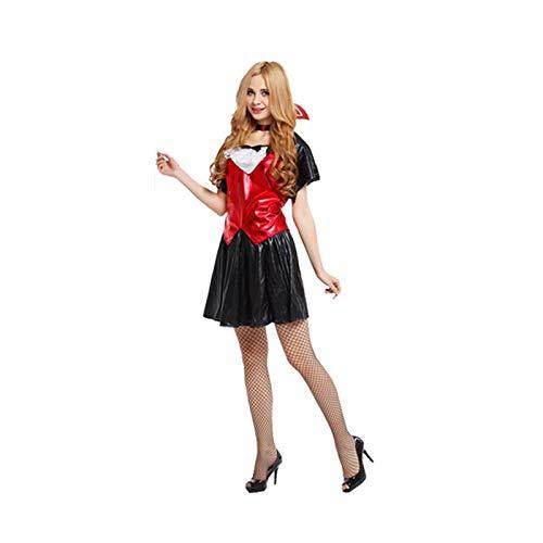 Süße Vampir Frauen Kostüm - FKMYS Frauen Cosplay Kostüm, Halloween Kostüm, süße Vampirin, inklusive Kleidung, Rock, Schal (geeignet for 155cm-175cm)