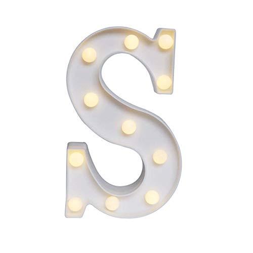 LED Buchstabe Lichter Alphabet, LED Brief Licht, Led dekoration für Geburtstag Party Bar Hochzeit & Festival Dekoration