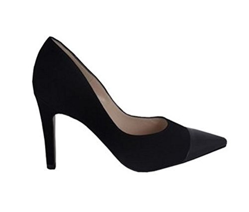 Pointed Toe Court Shoe Daliah Blk Suede