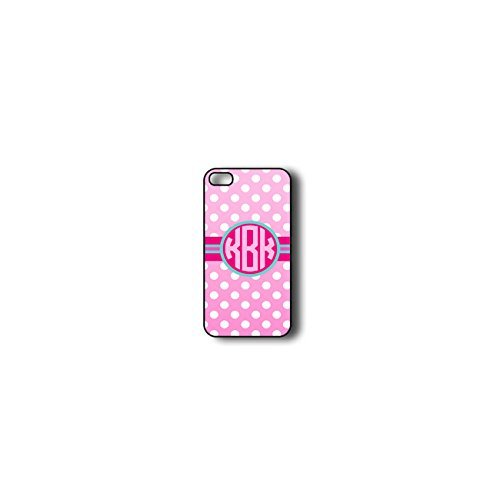 Krezy Case Monogram iPhone 6 Case, Colorful Chevron Pattern with polka dots Monogram iPhone 6 Case, Monogram iPhone 6 Case, iPhone 6 Case Cover