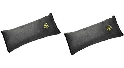 Monicaxin 2pc protezioni comfort per cintura di sicurezza auto con velcro, viaggio ammortizzatori (grey-gray/it)