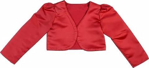 Les filles assez rouge Manchon long mariage Bolero Flowergirl parti (6mois-10ans)