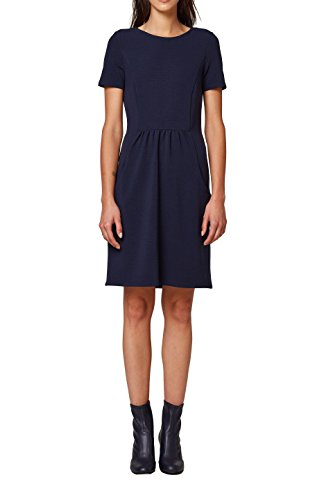 edc by ESPRIT Damen Kleid 088CC1E007, Blau (Navy 400), Large