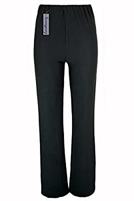 Lovetoenvy Ladies Nurse Work Carer Keep FIT Stretch Elasticated Bootleg Trousers in 3 Lengths (8-26) : everything £5 (or less!)