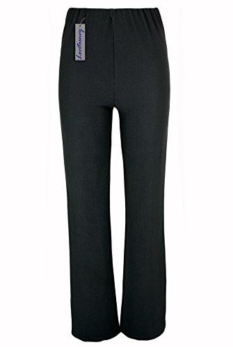 Lovetoenvy Ladies Nurse Work Carer Keep Fit Stretch Elasticated Bootleg Trousers In 3 Lengths (8-26)