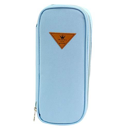 Comomingo Große Kapazität Nette Multifunktionale Federmäppchen Canvas Material Taschen Für Jungen Mädchen Student Reißverschluss Schulbedarf Schreibwaren (Net Soap-tasche)