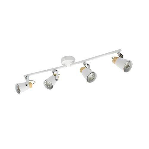 Lámpara de Techo Orientable Mara 4 Focos Blanco Blanco efectoLED