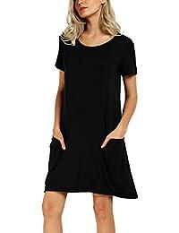 Vestito nero manica corta
