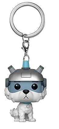 Funko- Pocket Pop Keychain: Rick and Morty-Snowball Rick & Morty Llavero, Multicolor, Standard (32351)