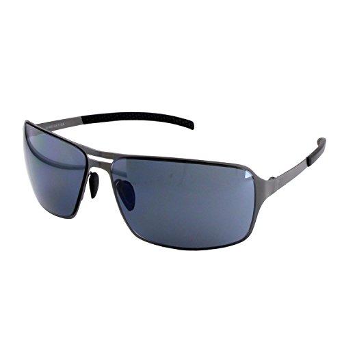 ActiveSol HYPERION Sonnenbrille Herren | anthrazit/braun/schwarz | verspiegelt/un-verspiegelt | UV-400 Schutz | Metall-Gestell (anthracite with back lenses)
