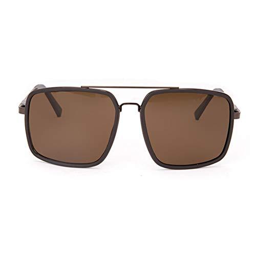 LYNTMY Sonnenbrille, Schwarz, Polarisierte GläSer, Quadratische, Klassische Retro-Mode FüR MäNner Und Frauen.