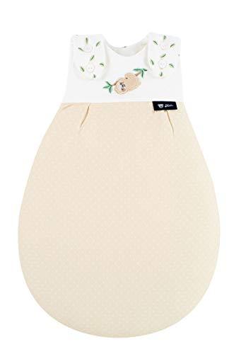 Alvi Baby-Mäxchen Außensack Super Soft/Winterschlafsack & Sommerschlafsack Jungen und Mädchen/Babyschlafsack Pflegeleicht/ÖKO Tex geprüft, Größe:56/62, Design:Faultier