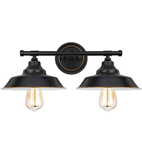 2-Luces Aplique Pared Baño Lámpara Espejo Baño