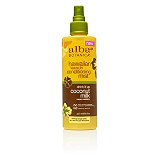 Alba Botanica Hawaiian Coconut Milk Leave-in Conditioning Mist, 8 Ounce