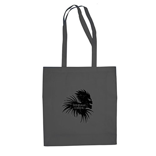 Shinigami is Coming - Stofftasche / Beutel, Farbe: grau