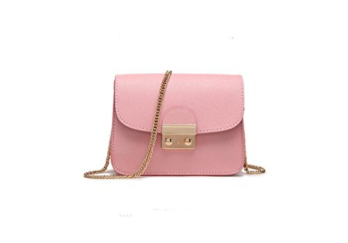 catena Ms. di piccolo sacchetto quadrato, sacchetto di spalla casuale, sacchetto del messaggero di modo, un piccolo sacchetto Pink