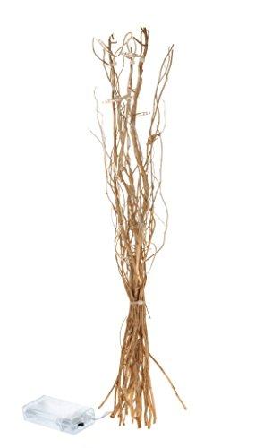 Lichterzweige 40 cm gold warmweiß 12 LED Zweige Lichterzweig Weide Weidenzweige