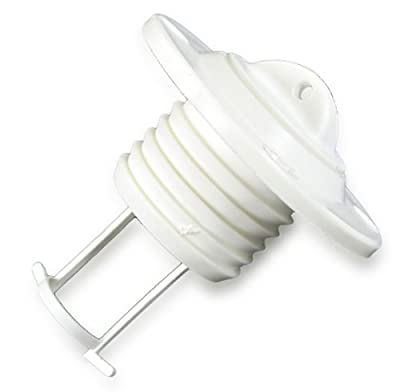 Lenzstopfen Kunststoff weiß 50 mm