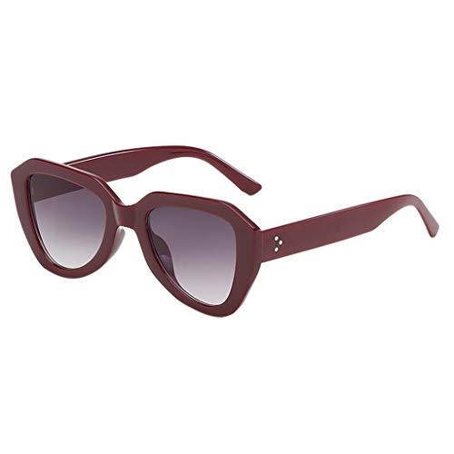 SCEMARK Mode Mann Frauen Sonnenbrillen unregelmäßige Form Sonnenbrille Brille Vintage Retro Style