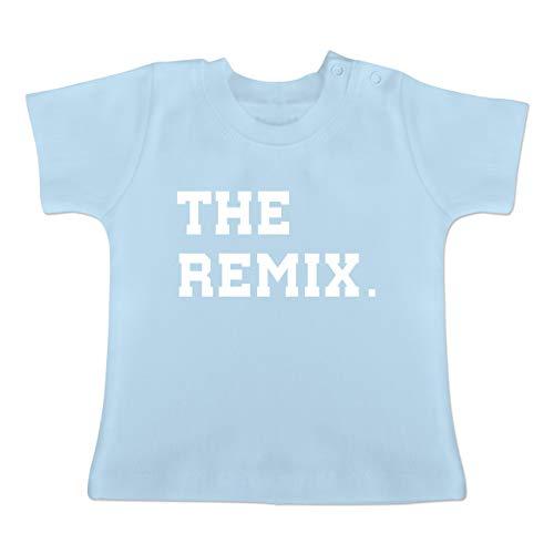Partner-Look Familie Baby - The Original The Remix Kind - 1-3 Monate - Babyblau - BZ02 - Baby T-Shirt Kurzarm - Forever Juniors T-shirt