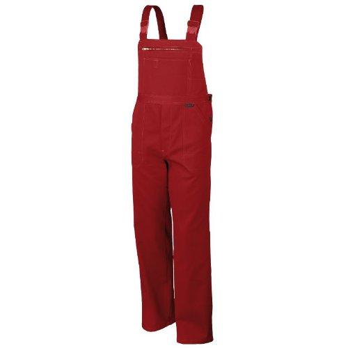 Robuste Latzhose aus Baumwolle BW320 - Arbeitslatzhose, Arbeitshose, Blaumann OVP - rot