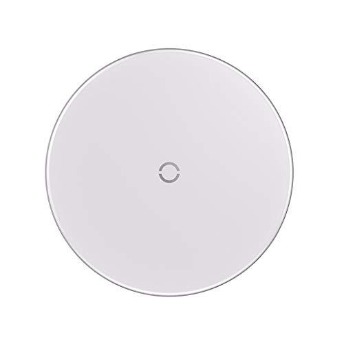 bloatboy ✨ Baseus Fast Wireless Charger, Glas Wireless Ladegerät, 7.5W für Apple iPhone XS/Xs Max/XR / 8/8 Plus/X, 10W Charger für Samsung Galaxy Note 5/7/8/9 (Weiß) Wireless Glas