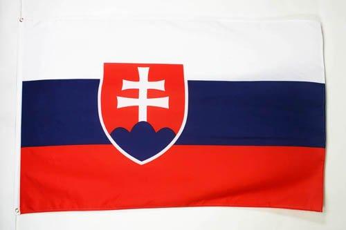 DRAPEAU SLOVAQUIE 150x90cm - DRAPEAU SLOVAQUE 90 x 150 cm - DRAPEAUX - AZ FLAG