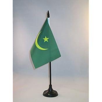 Petit Drapeaux DE Bureau mauritanien 14 x 21 cm AZ FLAG Drapeau de Table Mauritanie Ancien 21x14cm