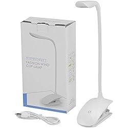 Fashion Wind Flexible Clip Book Reading Light Bedside Table LED Desk Lamp