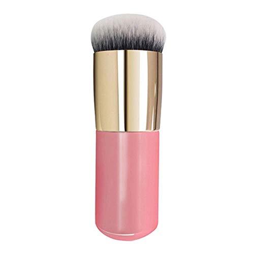 Spazzola per trucco Spazzola per viso grosso con manico morbido Spazzola per capelli morbida (Colore: Oro rosa)