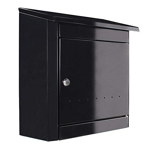 Rottner Stahl-Briefkasten Turin mit sehr großem Fassungsvolumen anthrazit T04665