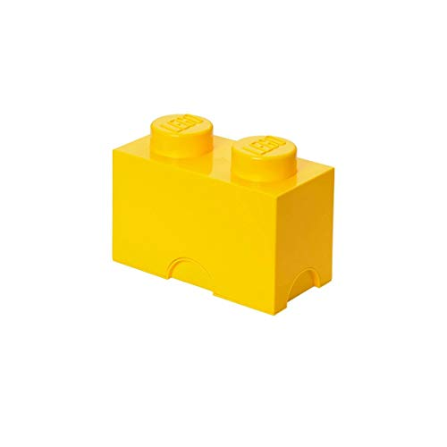 Petite brique de rangement empilable Jaune - Lego Décoration