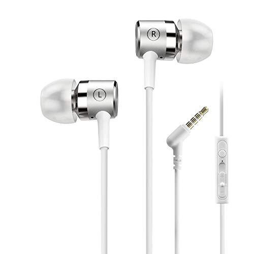 Mpow Auricolari con Cavo Auricolari Ear con Cavo Stereo Universale Cuffie con Jack Vivavoce Auricolari Cablati con Microfono per iPhone LG Samsung