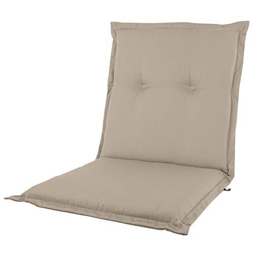 KOPU® Niedriglehner Auflage Prisma Tan | Auflagen für Gartenstühle | Beige Garten Kissen 100 x 50 cm | 19 Einfache Farben | Robuster Schaumstoff für zusätzlichen Komfort