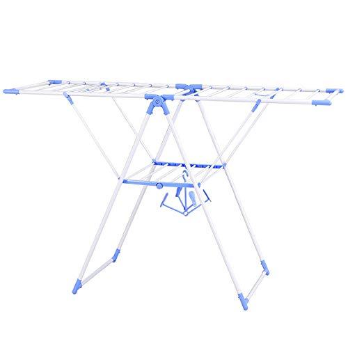 Rost Kleidungsstück (RUIZI Wäscheständer Trockenständer 158cm Flügelwäschetrockner mit Klappfunktion Metall Wäsche-Trockner Wäschespinne Weiß)