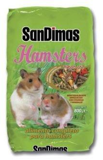 Aliment complet équilibré Hamsters Sandimas 800 g avec vitamines et minéraux