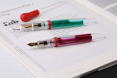 pipette füllt federhalter füllfederhalter feinen feder, transparente mit großer kapazität bunte tinte speicherung pen geschenk - box
