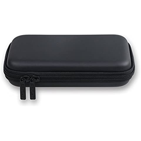 Storite Custodia in pelle EVA PU Borsa per Toshiba My Passport Essential Portable External USB Hard disk - Nero
