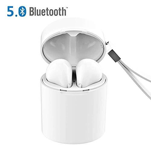 Auriculares Bluetooth 5.0, Cascos Sin Cable Estéreo Auriculares en la Oreja Auriculares Inalámbricos Deporte con Estuche de Carga Portátil Compatible con Android iOS