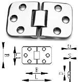 Edelstahlscharnier aus Edelstahl A4 AISI 316