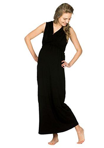 Love2Wait Umstandsmode Maxi Dress Crochet Nursing The Milkdealer Tencel- GOTS Zertifiziert Damen...