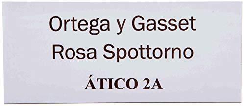 Placas Buzón de Aluminio Blanco y Grabado Negro. Cinta autoadhesiva. Grosor 0,5mm y tamaño máximo...